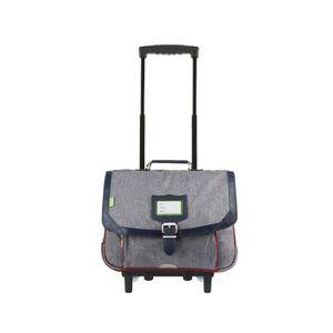 CARTABLE Tann's - Cartable à roulettes gris 38cm CE1/CE2 Li