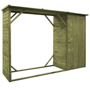 ABRI JARDIN - CHALET vidaXL Abri d'outils de jardin Pin FSC 253 * 80 *