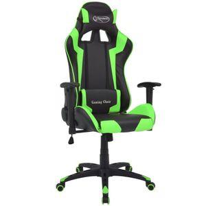 CHAISE DE BUREAU Chaise de bureau inclinable Cuir artificiel Vert