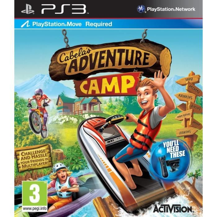 JEU PS3 CABELA'S ADVENTURE CAMP / Jeu console PS3 MOVE
