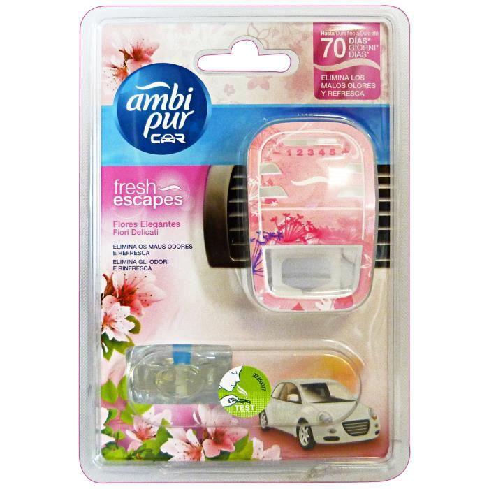 AMBI PUR Fleurs de voiture de base Delicate Déodorant Accessoires Voitures et Motos