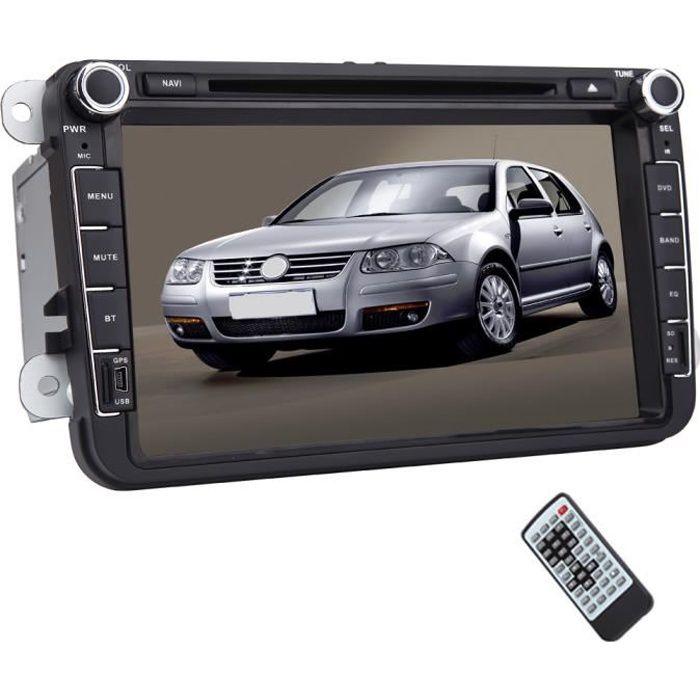 Double Din 8 pouces voiture 2DIN de navigation stéréo GPS Radio Car In Dash Headunit Bluetooth intégré Autoradio Lecteur vidéo