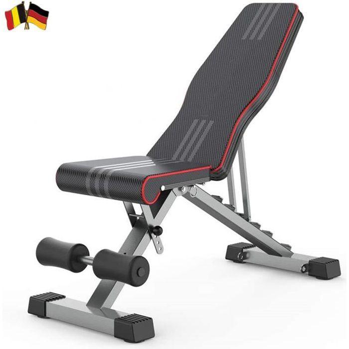 TOP Banc de Musculation incliné ,Pliable ,Dossier réglables en 6 Positions/ siège 4 directions réglable,