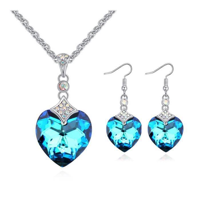 Chaine De Cou Vendue Seule OO71B Coeur des femmes de l'océan » 925 Gifts Pendentif en argent sterling collier pour la Fête des Mères
