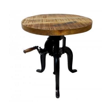 Table Basse Ronde Style Industriel Réglable 'Fl…