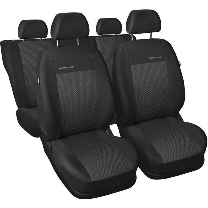 Housse De Siège Voiture Auto convient pour Nissan Qashqai gris Elegance P3