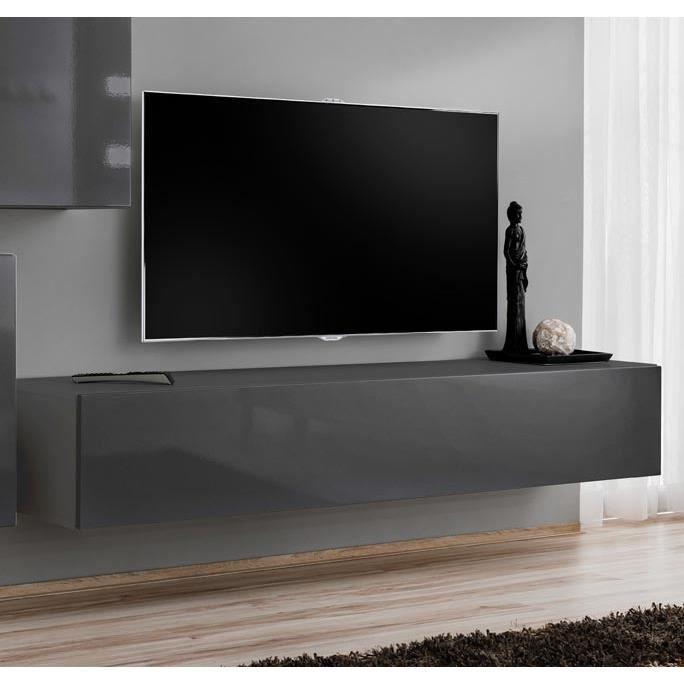 Meuble TV Berit 120x30 gris