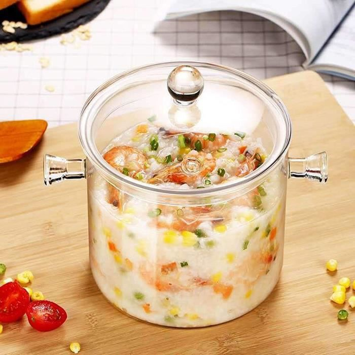 CASSEROLE Transparent Soupe Cuiseur 15L  20L  25L agrave haute teneur en borosilicate en verre reacutesistant agrave la chaleur 1057