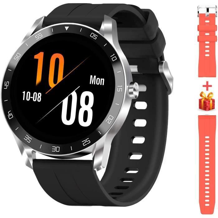 Blackview X1 Montre Connectée Homme Smartwatch Montre Sport Podomètre Cardiofrequencemètre Etanche 5ATM Natation Running Alarme Chro