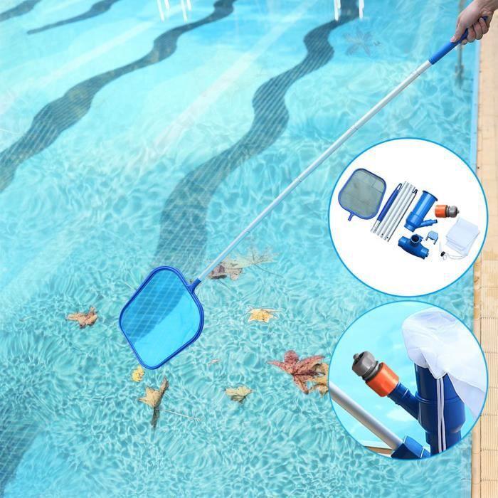 KIT PISCINE Outil de nettoyage de jet de vide de piscine de spa ensemble d'outils de filet de pêche manuel EU 230