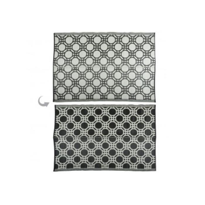 Tapis de jardin Géométrique 121 x 174 cm Noir,Blanc