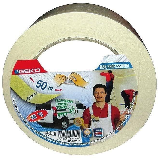 Adhésif papier masquage pro 50 mm x 50 m