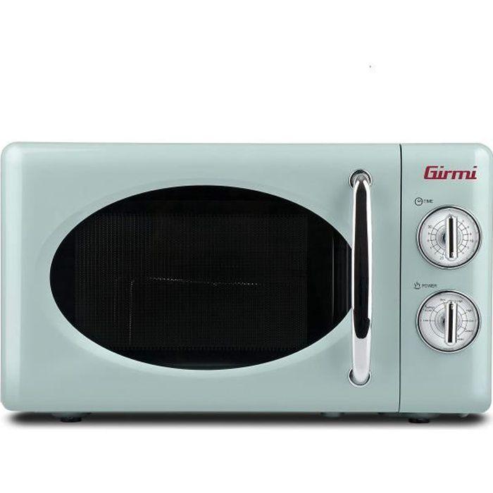 Girmi FM21 Four à micro-ondes avec compartiment, design vintage, 20 litres, 700 + 800 W