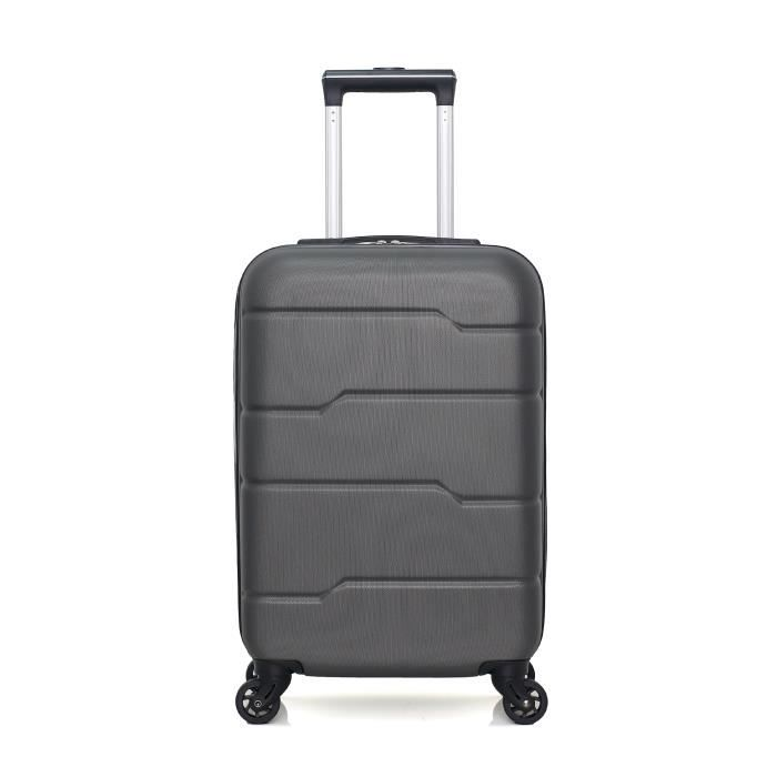HERO – VALISE CABINE - ABS – 55cm – 4 roues – PAMIR – GRIS FONCE