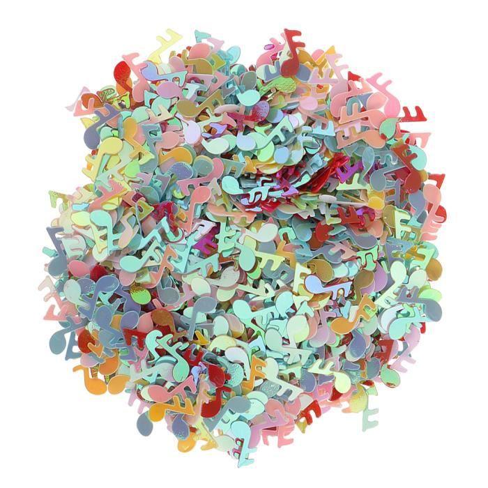 Confettis de Table Note de Musique Plastique Couleur Mixte Déco Baby Shower