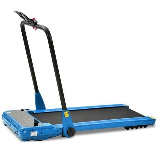 Tapis de course pliable électrique avec télécommande bleu(moteur puissant de 1,5 chevaux)(l'entrepôt allemand en stock)