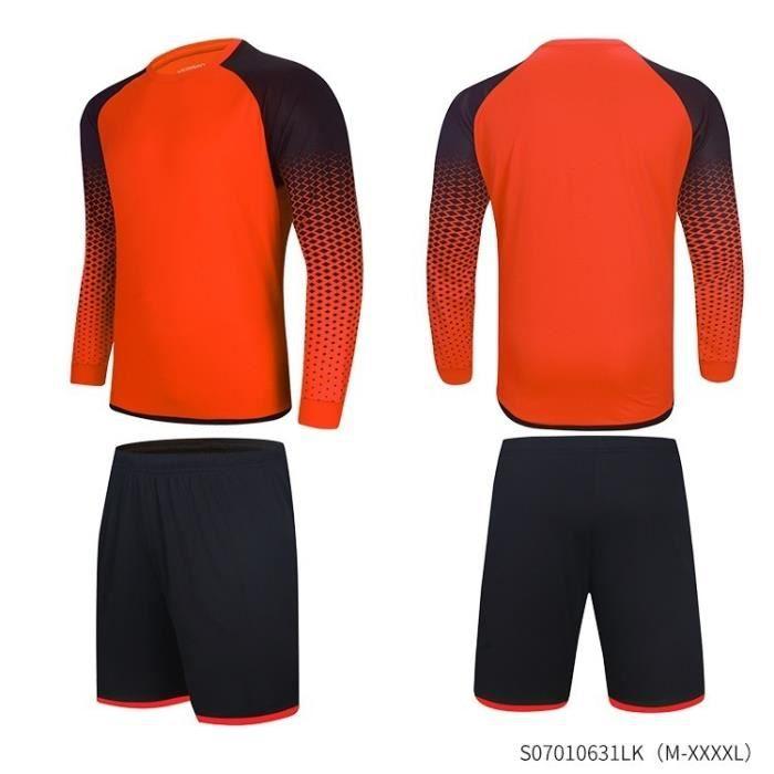 Gardien de but respirant Jersey résistant à l'usure de football Gardien de but uniforme Hommes de football Maillot de gardien de but
