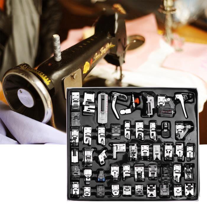 48pcs Machine à coudre biche kit Ourlet Pied de pièces accessoires pour Brother Singer