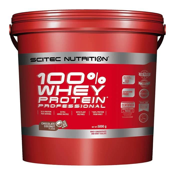 Scitec Nutrition PROTÉINE 100% Whey Protein Professional, choco-coco, 5000 g - 0728633106219