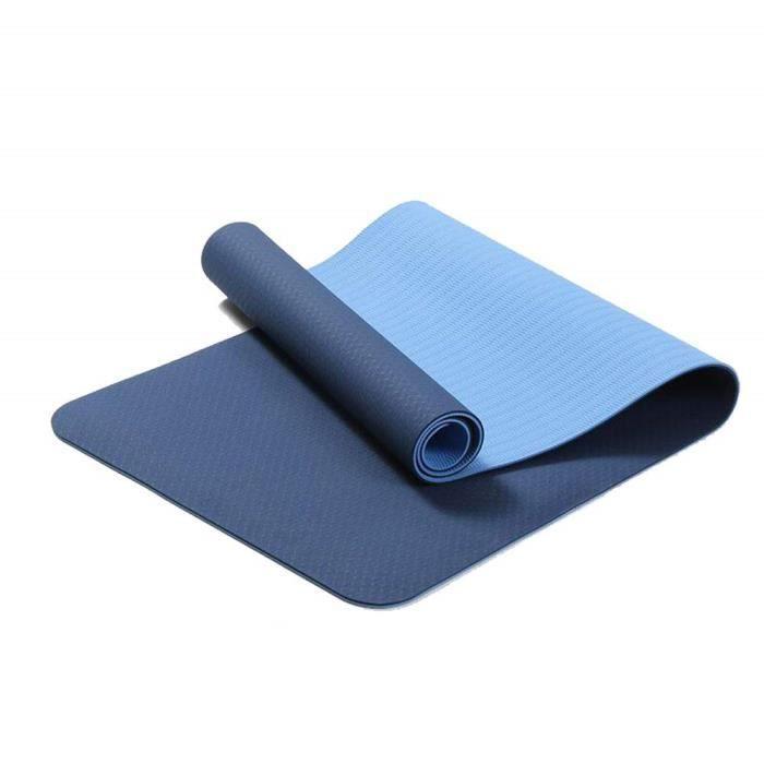 Bleu TPE Tapis De Yoga 6mm Tapis de Fitness Tablette Support Tapis De Yoga Pilates &Eacutecologique Amical sans Odeur