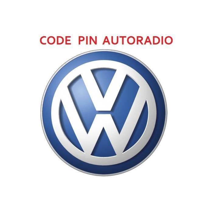Recuperation Code Pin pour Autoradio Volkswagen Seat Skoda Audi Skyexpert