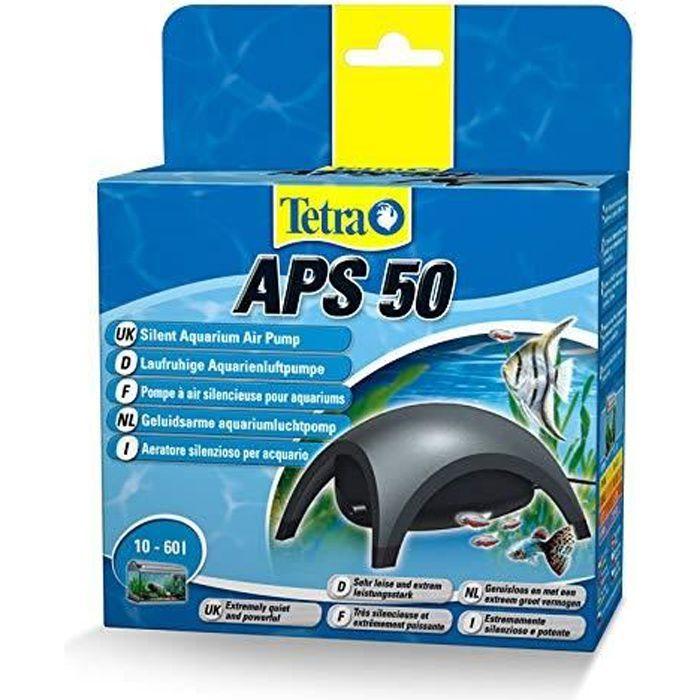 TETRA APS 50 - Pompe à Air pour Aquarium de 10 à 60L -Silencieuse avec triple système anti-bruit - Réglable Puissante et