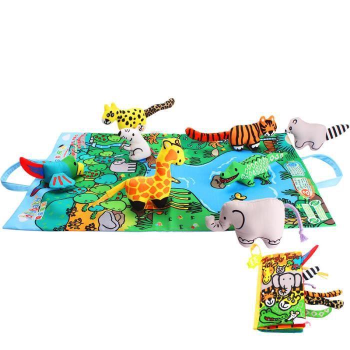 Livres En Tissu De L Education Precoce En Trois Dimensions 6 12 Mois Bebe 0 1 3 Ans Jouets Pour Les Enfants Serie De La Jungle