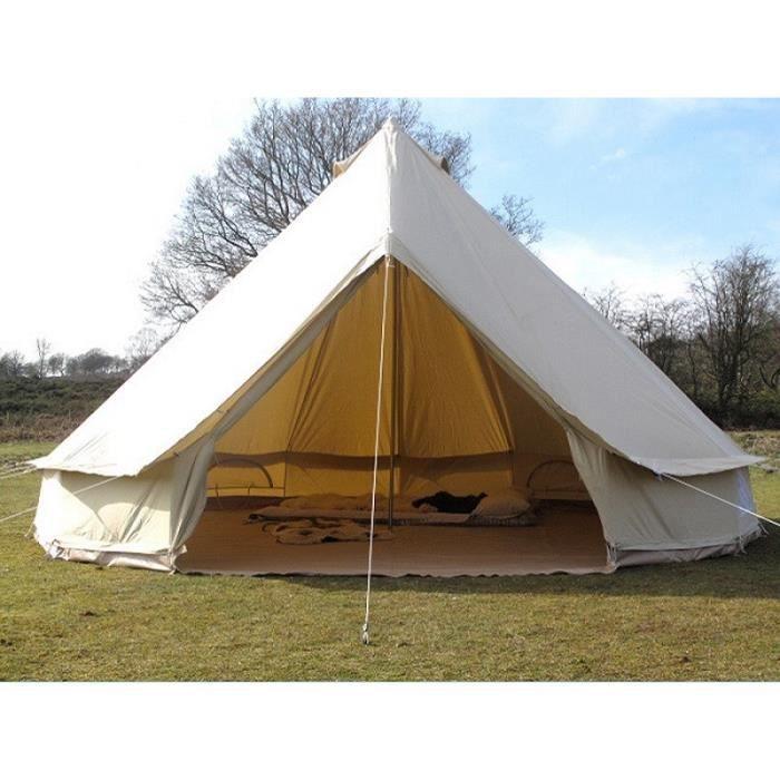 TENTE DE CAMPING Tente De Camping Familiale - 4m Cotton Bell Tente