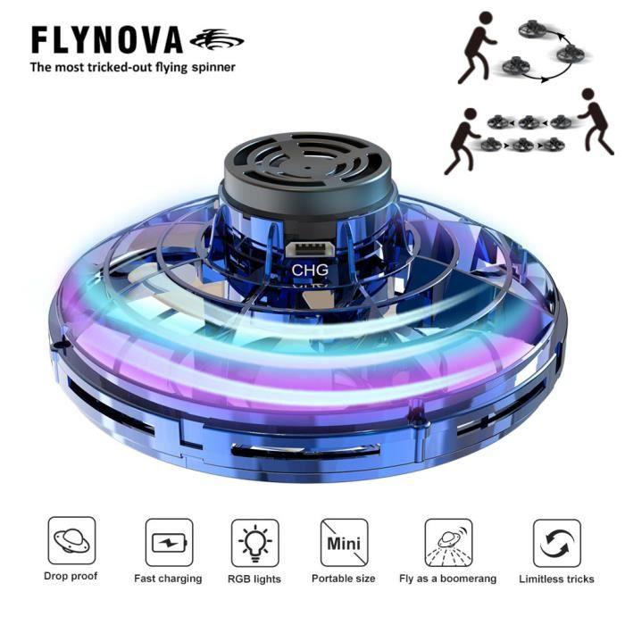 Mini Drone UFO Flying Toy pour Enfants et Adultes Contr/ôl/ée /à la Main FlyNova Ballon Volant USB Recharger Avion Interactive Int/érieur H/élicopt/ère avec 360 /° Rotation et 5 Lumi/ères LED Jouet