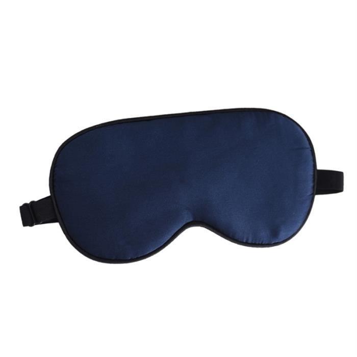 Plus Gros Masque de Sommeil avec Sangle Ajustable Ultra-Douce confortable Masque de Nuit Noir 100/% Soie Naturelle Respirantes avec un blocage de la lumi/ère /à 100/%
