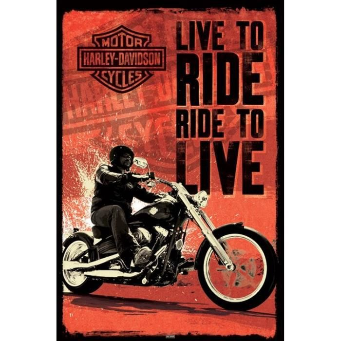 poster harley davidson achat vente poster harley davidson pas cher cdiscount. Black Bedroom Furniture Sets. Home Design Ideas