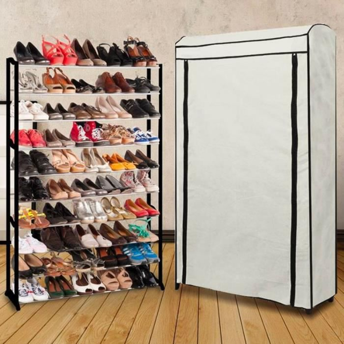 etag re range chaussures 50 paires eco avec sa housse crue achat vente meuble a casier. Black Bedroom Furniture Sets. Home Design Ideas