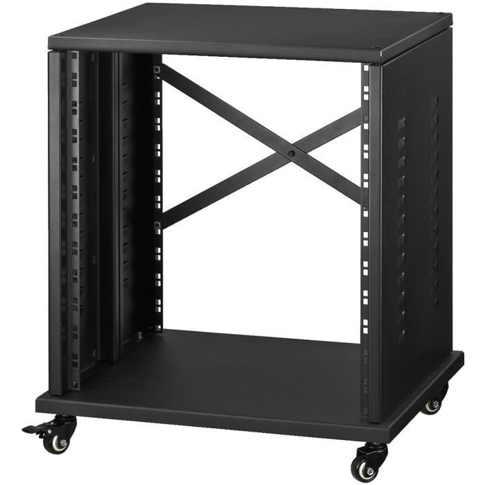 rack studio 12 u pour appareil au standard 19 pouces 482. Black Bedroom Furniture Sets. Home Design Ideas
