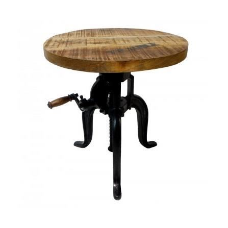 En stock - Table basse ronde industrielle ...