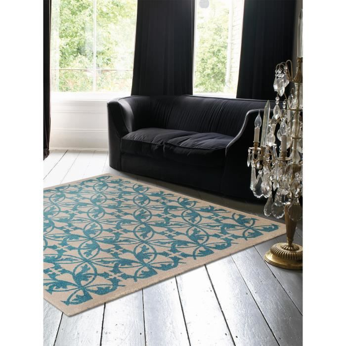 benuta tapis kaleido bleu 150x150 cm achat vente tapis. Black Bedroom Furniture Sets. Home Design Ideas