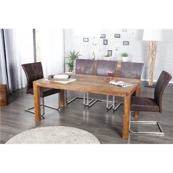 table manger en bois lagoli bois clair 160x90 achat vente table manger avec chaises. Black Bedroom Furniture Sets. Home Design Ideas
