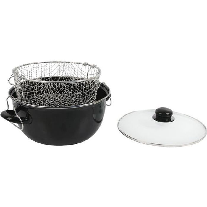 FRITEUSE Crealys Friteuse - 505629 - Ø26Cm Emaille Inductio