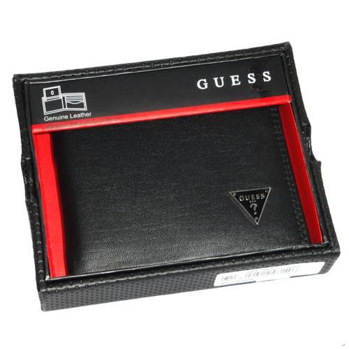 portefeuille en coffret homme guess cuir n s0145 noir noir. Black Bedroom Furniture Sets. Home Design Ideas