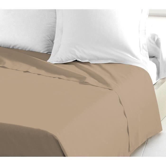 Linnea Drap Plat uni 270x310 cm 100/% Coton Alto Macaron