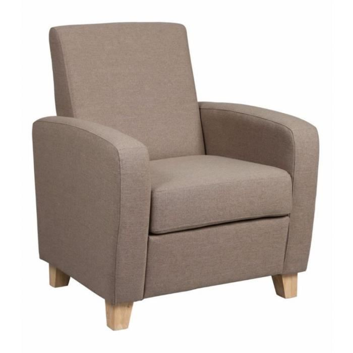 petit fauteuil seated tissu beige achat vente fauteuil beige cdiscount. Black Bedroom Furniture Sets. Home Design Ideas