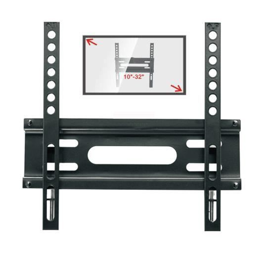 mini support mural tv de 25 82 cm slim fixation support tv avis et prix pas cher cdiscount. Black Bedroom Furniture Sets. Home Design Ideas