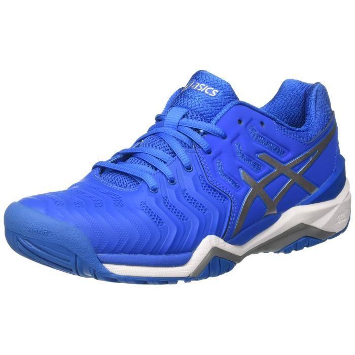 chaussures de tennis homme gel resolution 7 bleu electric asics