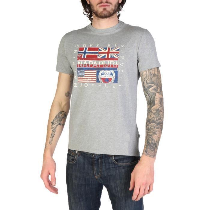 NAPAPIJRI Polo Shirt Manches Courtes Coton Blanc Noir Bleu Bordeaux L XL XXL XXXL