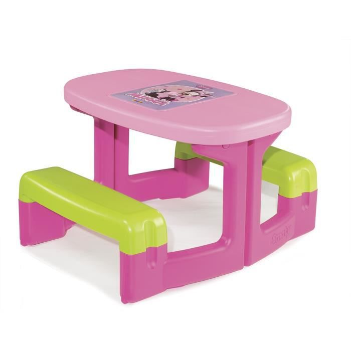 Minnie Table Pique Nique Enfant Rose Achat Vente Table De