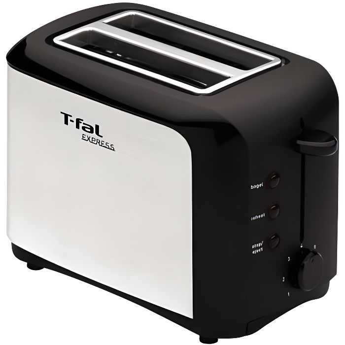 grille pain tefal tt356110 inox noir achat vente grille pain toaster cdiscount. Black Bedroom Furniture Sets. Home Design Ideas
