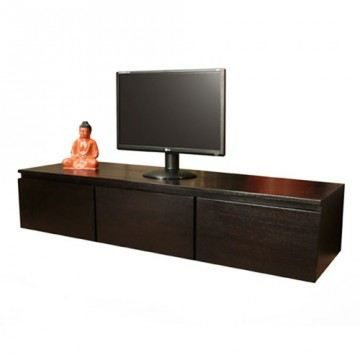 meuble tv en acajou 135 eva achat vente meuble tv. Black Bedroom Furniture Sets. Home Design Ideas
