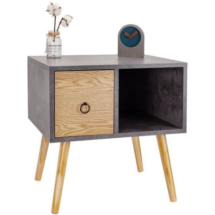 TABLE BASSE WOLTU Table de chevet en bois, Table de nuit, Tabl