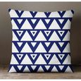 S 4 Sassy Ikat Printed Pillow Case Home Decorative Noir Canapé Housse de coussin carrée