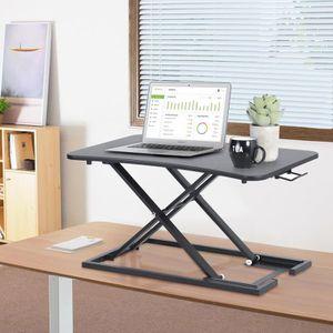 SUPPORT PC ET TABLETTE Bureau d'ordinateur assis-debout Station de Travai