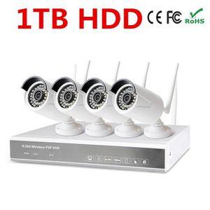 CAMÉRA DE SURVEILLANCE 1 To HDD hot 960P 4ch système de caméra de sécurit